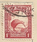 Stamps Oceania - New Zealand -  Kiwi