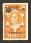 Stamps Oceania - Tonga -  homenaje a la reina salote tupou III