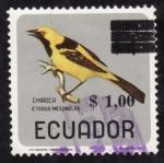 Stamps America - Ecuador -  ICTERUS MESOMELAS(chiroca)