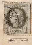 Stamps Europe - France -  Republica Francesa Ed 1872