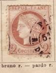 Sellos de Europa - Francia -  Republica Francesa Ed 1872