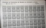 Stamps Spain -  BENEFICENCIA, FRANCO, PLIEGO DE 50 SELLOS DE 1 PTA. MUTUALIDAD DEL MINISTERIO DE INFORMACIÓN Y TURIS
