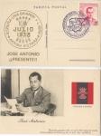 Sellos de Europa - España -  RARA POSTAL HOMENAJE A LA LEGIÓN CÓNDOR, JOSE ANTONIO, FALANGE 1939, 4. Arriba España. Marca, HEIMKE