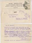 Sellos de Europa - España -  GUERRA CIVIL CENSURA MILITAR PALACIOS DE SANABRIA, ZAMORA. ALMACENES Y FÁBRICA DE CHOCOLATE BOBO