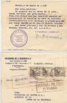 Stamps Europe - Spain -  GUERRA CIVIL CENSURA MILITAR DE EL FERROL, TARJETA CIRCULADA Y ESCRITA POR DETRÁS DE LOS AGENTES DE