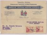Stamps Spain -  GUERRA CIVIL CENSURA MILITAR DE BILBAO, TARJETA CIRCULADA DE LA EMPRESA AZUL BRASSO DE DEUSTO, A LA