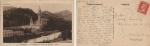 Stamps : Europe : France :  1927 ANTIGUA POSTAL FRANCESA CIRCULADA DEL SANTUARIO DE LA VIRGEN DE LOURDES A BARCELONA.