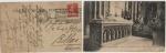 Sellos del Mundo : Europa : Francia : POSTAL FRANCESA DE 1922, CIRCULADA DE PARÍS A BILBAO. IMÁGEN DE LA ABADÍA DE SAN DENIS, PARÍS.