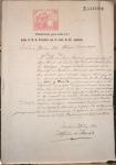sellos de Europa - España -  1880, CUBA, HABANA, DOCUMENTO CON FIRMAS, SELLOS FISCALES, CERTIFICADO DE SOLTERÍA, CORONEL DE INFAN