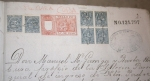 Stamps Europe - Spain -  1898, CUBA, SANTA CLARA. EXPEDIENTE DE DOCUMENTOS CON FIRMAS, SELLOS FISCALES... MILITAR Y CIVIL.