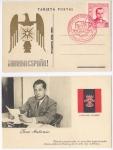 Sellos de Europa - España -  RARA POSTAL HOMENAJE A LA LEGIÓN CÓNDOR, JOSE ANTONIO, FALANGE 1939, 4.