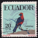 Stamps Ecuador -  CARDENAL