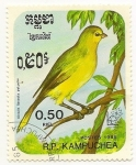Stamps Cambodia -  Sicalis Flaveola Pelzelni