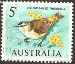 Stamps : Oceania : Australia :  fauna, pequeño pájaro de cola amarilla