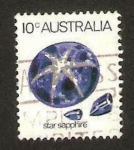 Stamps : Oceania : Australia :  mineral, star sapphire