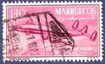 Sellos del Mundo : Africa : Marruecos : MARRUECOS Puente Río Nekor 1,40 aéreo