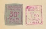 Stamps : Europe : France :  1969, FRANCIA, 2 SELLOS DE DISTRIBUCIÓN, 30 CTS. Y 1,50 FRANCOS. COLOR ROSA.