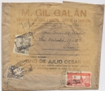 Sellos de Europa - España -  SOBRE CERTIFICADO DE JEREZ DE LA FRONTERA A OVIEDO DEL EXPORTADOR DE VINOS Y COÑACS M. GIL GALÁN, JE