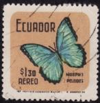 Stamps Ecuador -  MORPHO PELEIDES