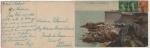 Sellos de Europa - Francia -  POSTAL FRANCESA COLOREADA DE 1928, CIRCULADA, ST. MALO, LA TOUR BIDOUANE.