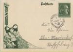 Sellos de Europa - Alemania -  III REICH, 1938, ENTERO POSTAL HITLER, MUNICH CAPÌTAL DEL MOVIMIENTO NAZI, 13-10-38. DEUTSCHES REICH