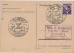 sellos de Europa - Alemania -  III REICH, 1944, TARJETA POSTAL HITLER, PRAGA OCUPADA, DIGNIFICACIÓN DEL TRABAJO, 17-VII-44. EHRET D