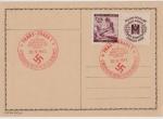 sellos de Europa - Alemania -  III REICH, 1941, TARJETA POSTAL CRUZ ROJA ALEMANA, PRAGA OCUPADA, CUMPLEAÑOS DEL FÜHRER, 20-IV-41. F