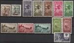 Stamps Europe - Spain -  1949/1956, 13 SELLOS DE LA GUINEA ESPAÑOLA, FRANCO, SERIES COMPELTAS. NUEVOS CON GOMA.