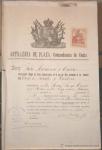 Sellos del Mundo : Europa : España : 1912, COMANDANCIA DE CEUTA, EXPEDIENTE DE DOCUMENTOS CON FIRMAS, SELLOS FISCALES, ARTILLERÍA DE PLAZ