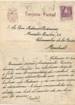 Stamps : Europe : Spain :  1944 POSTAL PATRIÓTICA CON EL ÁGUILA DE SAN JUAN CIRCULADA DE VALENCIA A MADRID, FRANQUEO DE 20 CTS.