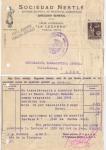 Stamps : Europe : Spain :  1939 CENSURA MILITAR POSTAL LA LECHERA DE NESTLÉ BARCELONA - LEÓN.
