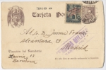 Sellos del Mundo : Europa : España : GUERRA CIVIL CENSURA ENTERO POSTAL CERVANTES, BARCELONA - MADRID 1939.