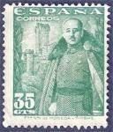 Sellos de Europa - España -  Edifil 1026 General Franco y castillo de la Mota 0,35