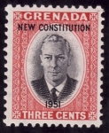 Sellos del Mundo : America : Granada : NUEVA CONSTITUCION 1951
