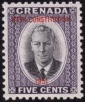 Stamps Grenada -  NUEVA CONSTITUCION 1951