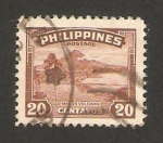 Stamps : Asia : Philippines :  volcán mayon