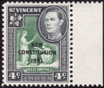 Stamps America - Saint Vincent and the Grenadines -  NUEVA CONSTITUCION 1951
