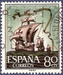 Stamps Spain -  Edifil 1514 Congreso Instituciones Hispánicas 0,80
