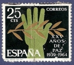 Sellos de Europa - España -  Edifil 1576 XXV años de paz 0,25