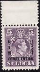 Stamps America - Saint Lucia -  NUEVA CONSTITUCION 1951