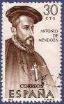 Stamps Spain -  Edifil 1750 Antonio de Mendoza 0,30