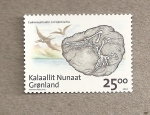 Stamps Greenland -  Fósiles