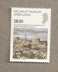 Stamps Greenland -  50 Aniv. del Año Geofísico Internacional