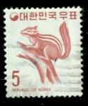 Stamps Asia - South Korea -  Ardilla