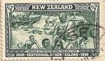 Stamps Oceania - New Zealand -  Conmemoración llegada Maories a N. Zelanda en 1350