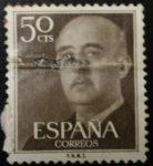 Stamps Europe - Spain -  Franco 50 cts