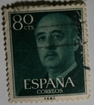 Stamps Europe - Spain -  Franco 80 cts