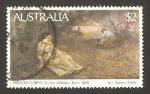 Stamps : Oceania : Australia :  cuadro del pintor australiano fred mccubbin