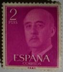 Stamps Europe - Spain -  Franco 2 ptas