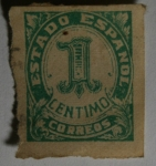 Stamps Europe - Spain -  Estado Español 1 centimo